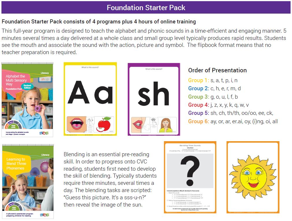 Brochure_V3_Foundation1_contents Lioncrest Education Home Page Product : PLD Starter Packs