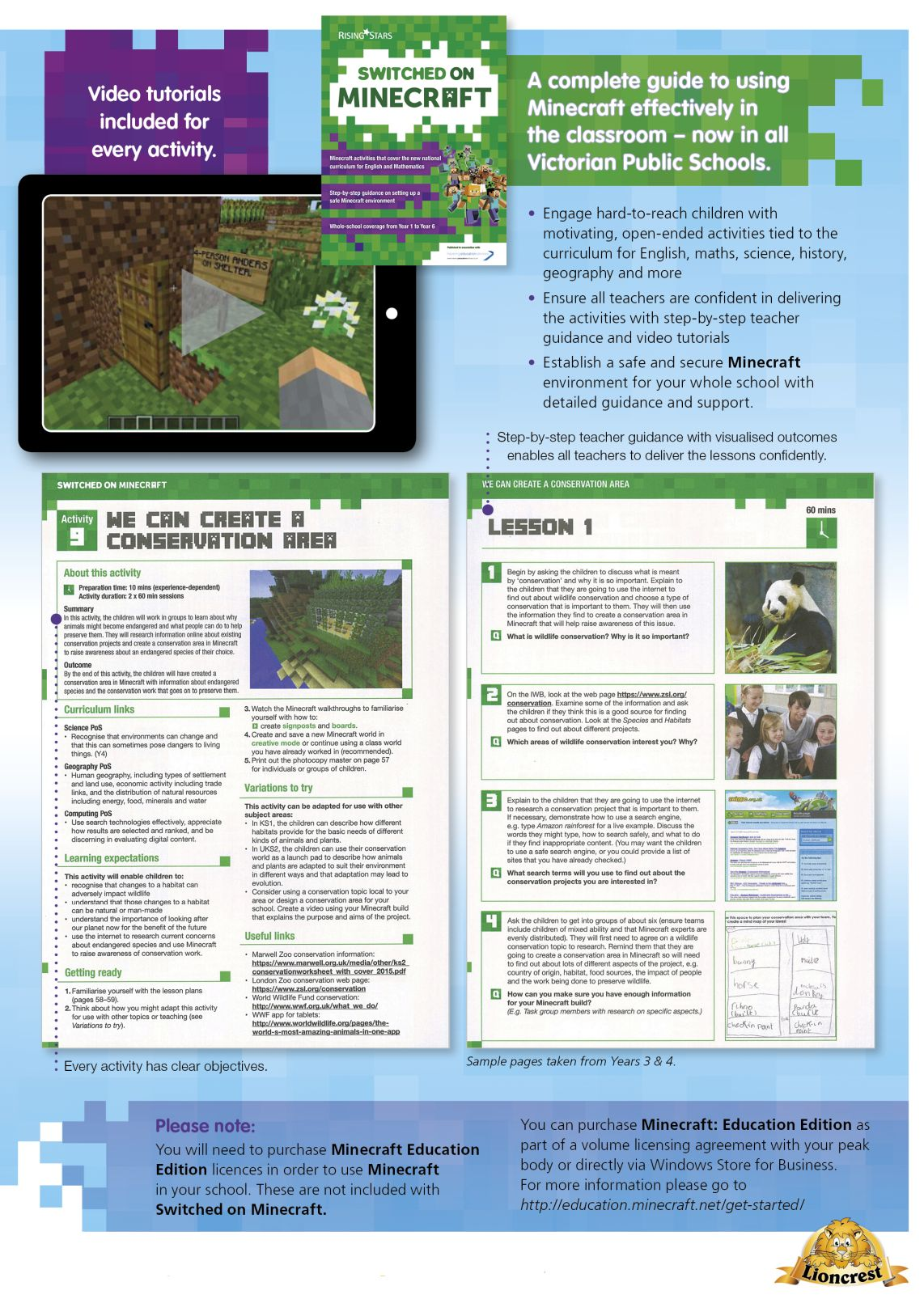 SOMinecraft_p155 Switched On Minecraft  |  Literacy Resources for Primary and Secondary Education | Lioncrest Education