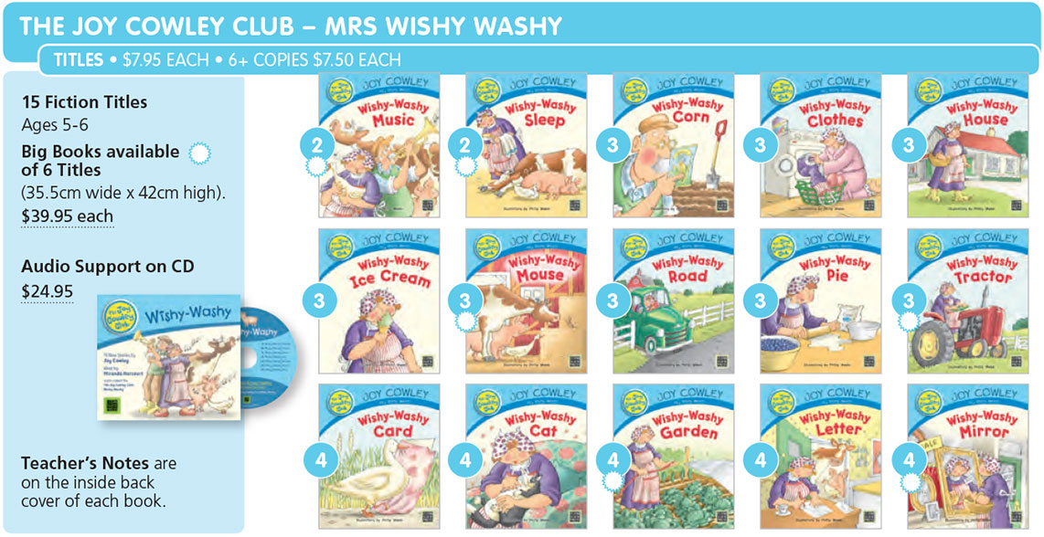 joy cowley club mrs wishy washy