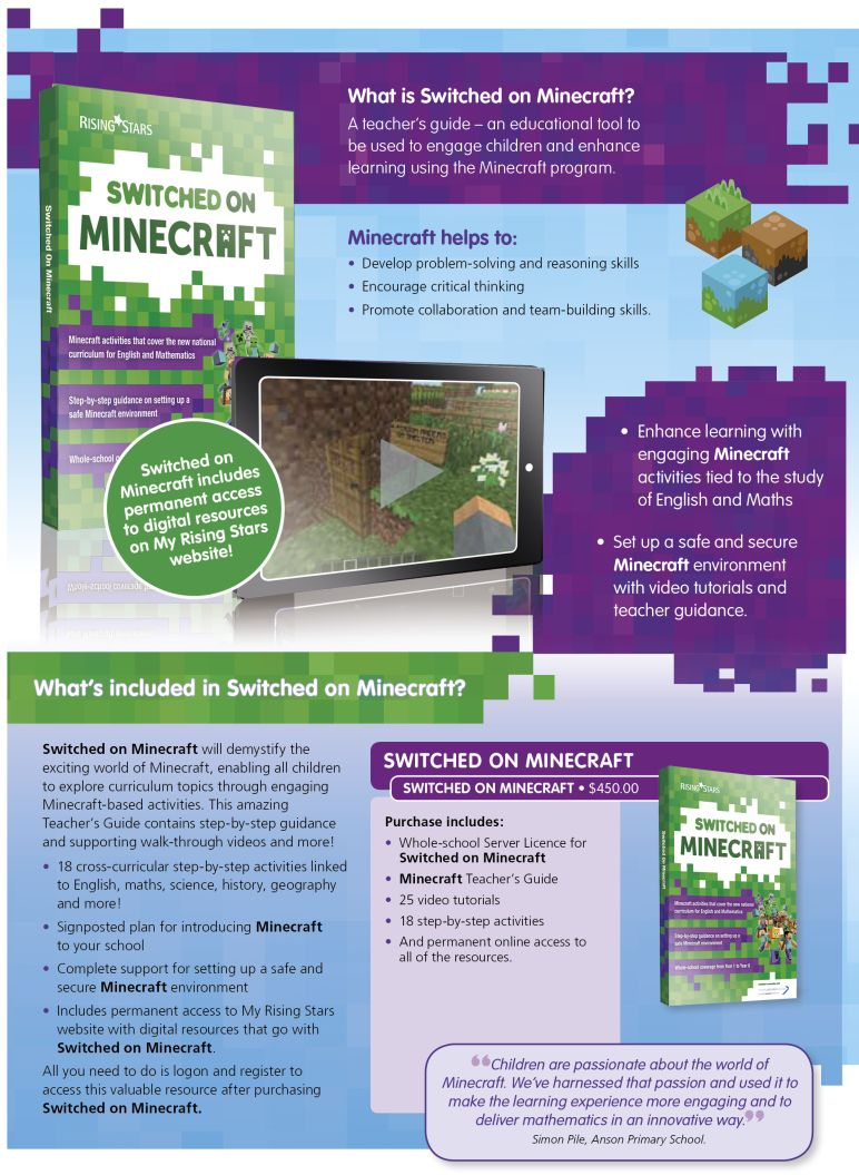 SwitchedOn_Minecraft1_772_2018 Switched On Minecraft  |  Literacy Resources for Primary and Secondary Education | Lioncrest Education