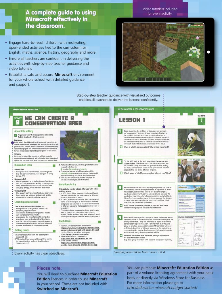 SwitchedOn_Minecraft2_772_2018 Switched On Minecraft  |  Literacy Resources for Primary and Secondary Education | Lioncrest Education