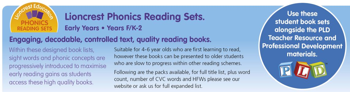 Click through to Lioncrest Phonics Reading Sets