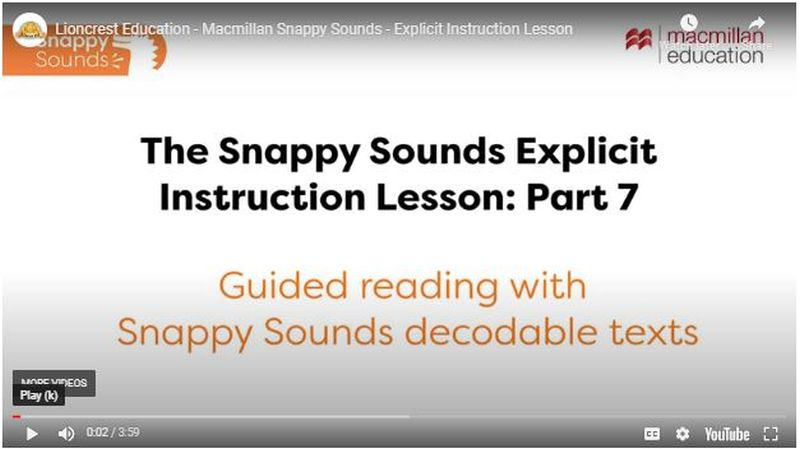 SnappySoundsVideo_900 Literacy : Snappy Sounds