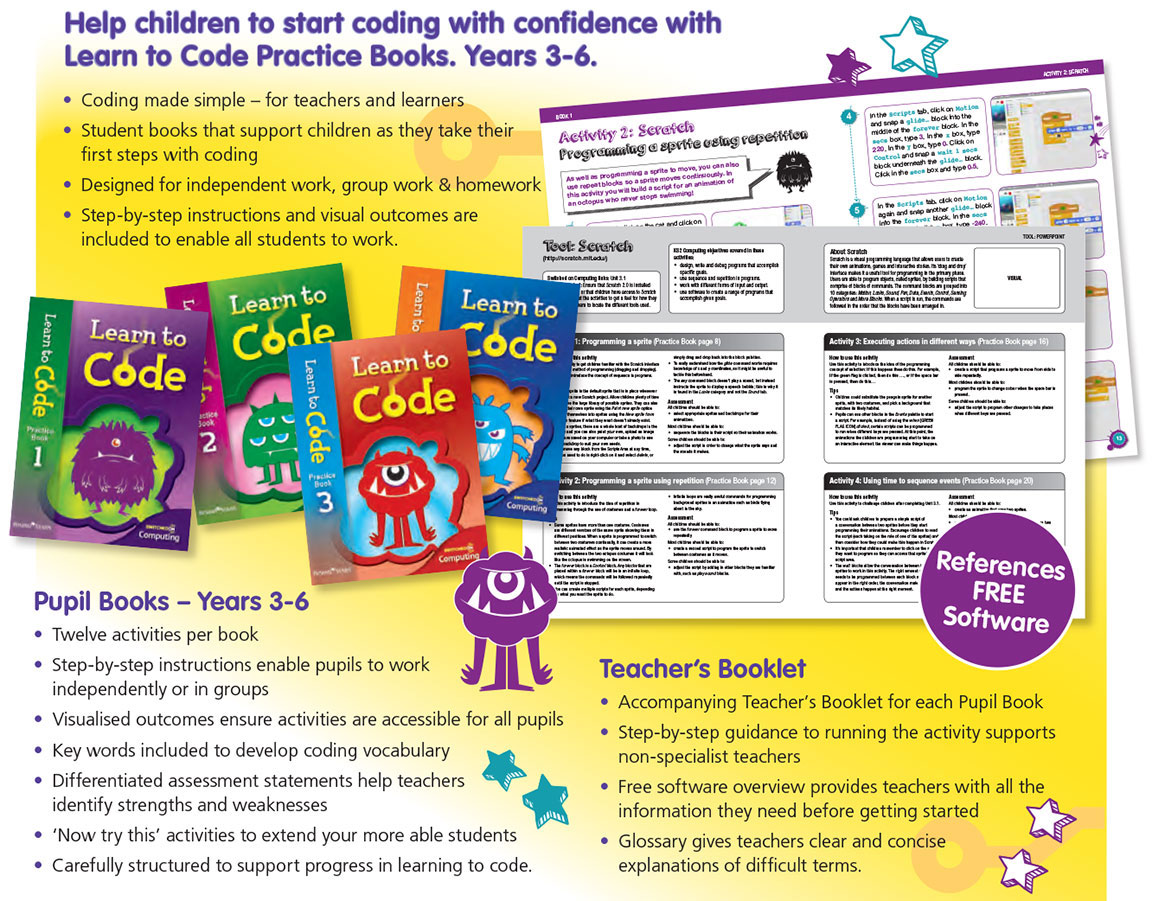 learn-to-code Learn to Code  |  Literacy Resources for Primary and Secondary Education | Lioncrest Education